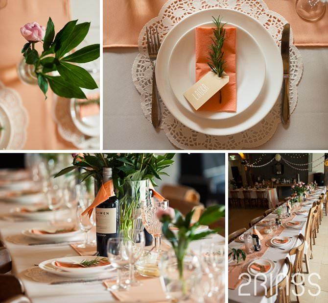 vintage wedding details dinner